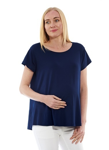Motherway Maternity Bluz Lacivert